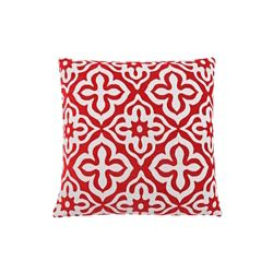 Monarch Specialties 18-inch x 18-inch Red Motif Design Pillow