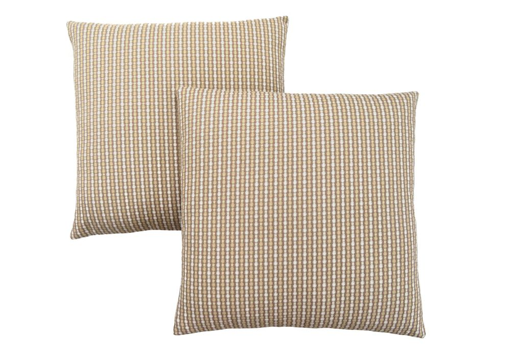 Monarch Specialties Pillow - 18-inch X 18-inch Light Dark Taupe Abstract Dot 2Pc