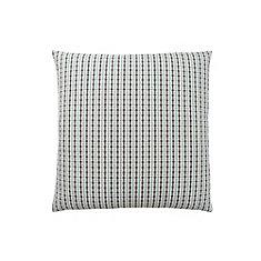 18-inch x 18-inch Light Blue Grey Abstract Dot Pillow