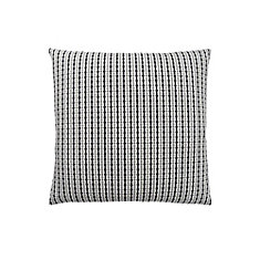 18-inch x 18-inch Light Grey Black Abstract Dot Pillow