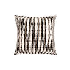 18-inch x 18-inch Light Dark Brown Abstract Dot Pillow