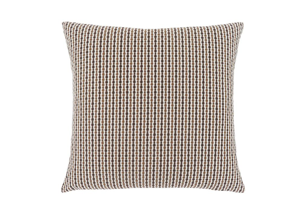 Monarch Specialties 18-inch x 18-inch Light Dark Brown Abstract Dot Pillow
