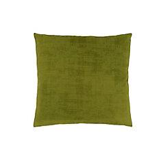 18-inch x 18-inch Lime Green Brushed Velvet Pillow