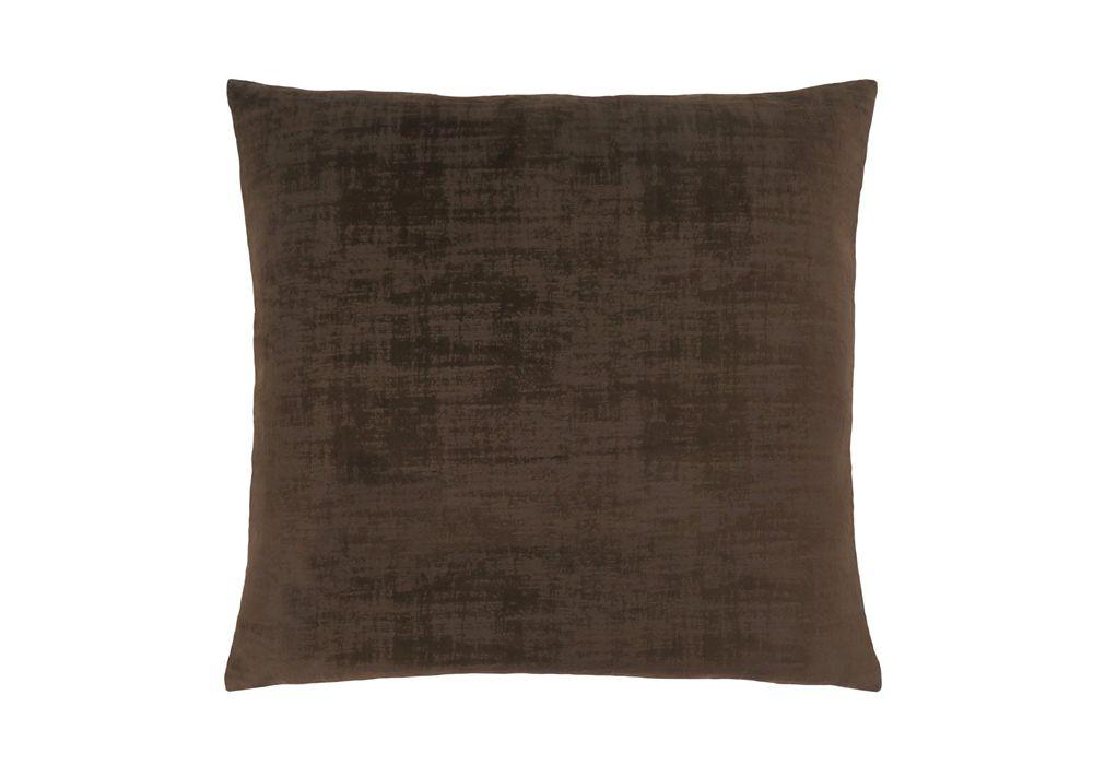 Monarch Specialties 18-inch x 18-inch Dark Brown Brushed Velvet Pillow