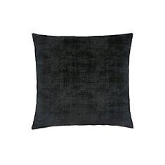 Coussin - 18 po X 18 po Velour Brosse Noir (1-Pc)