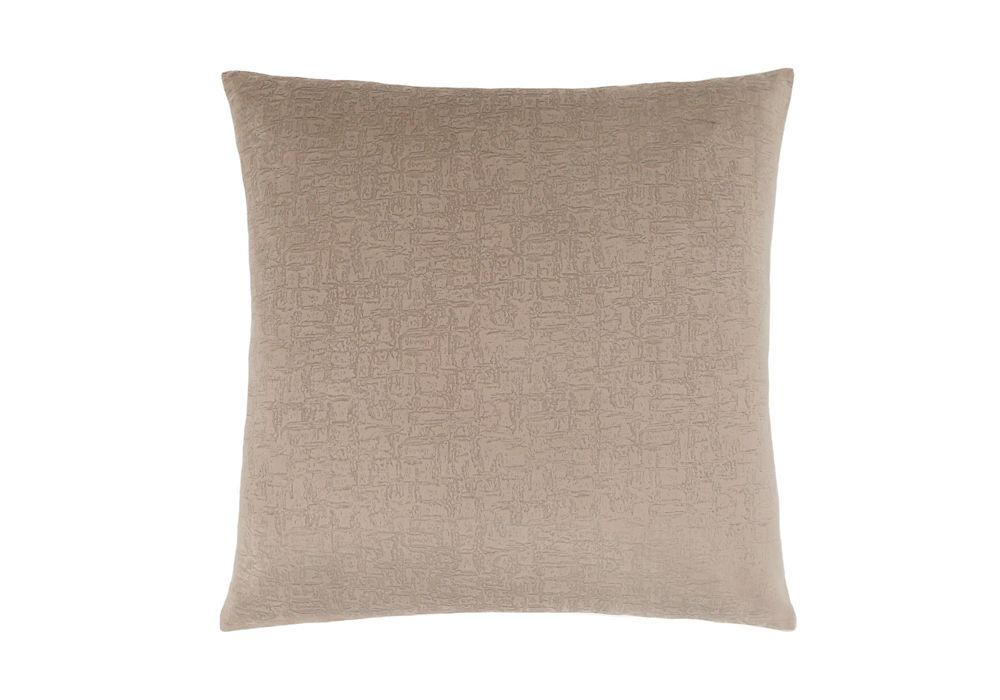 Monarch Specialties 18-inch x 18-inch Taupe Mosaic Velvet Pillow