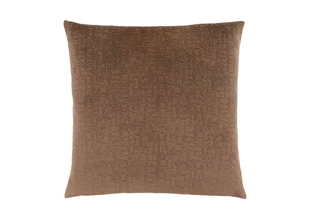 Monarch Specialties 18-inch x 18-inch Light Brown Mosaic Velvet Pillow