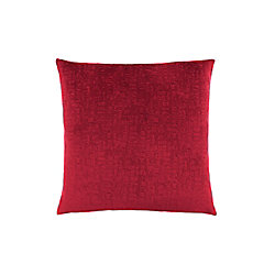 Monarch Specialties 18-inch x 18-inch Red Mosaic Velvet Pillow