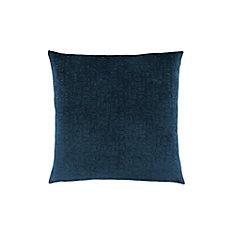 18-inch x 18-inch Dark Blue Mosaic Velvet Pillow