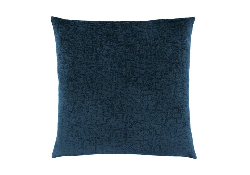 Monarch Specialties 18-inch x 18-inch Dark Blue Mosaic Velvet Pillow