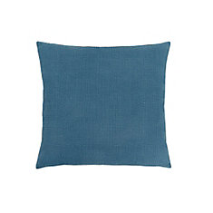 18-inch x 18-inch Patterned Blue Pillow