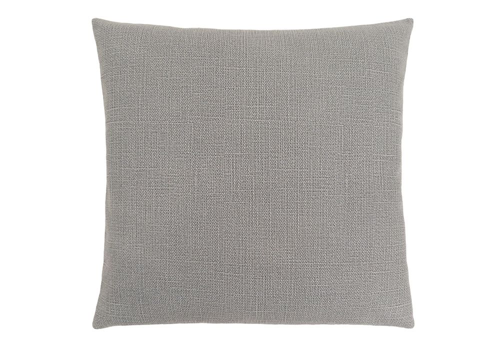 Monarch Specialties 18-inch x 18-inch Patterned Light Grey Pillow