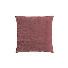 18-inch x 18-inch Solid Dusty Rose Pillow
