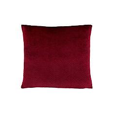 18-inch x 18-inch Burgundy Diamond Velvet Pillow