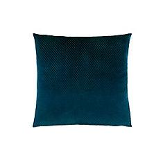 18-inch x 18-inch Steel Blue Diamond Velvet Pillow