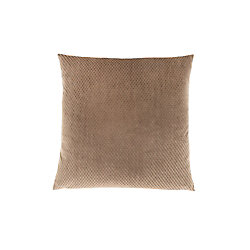 Monarch Specialties 18-inch x 18-inch Beige Diamond Velvet Pillow