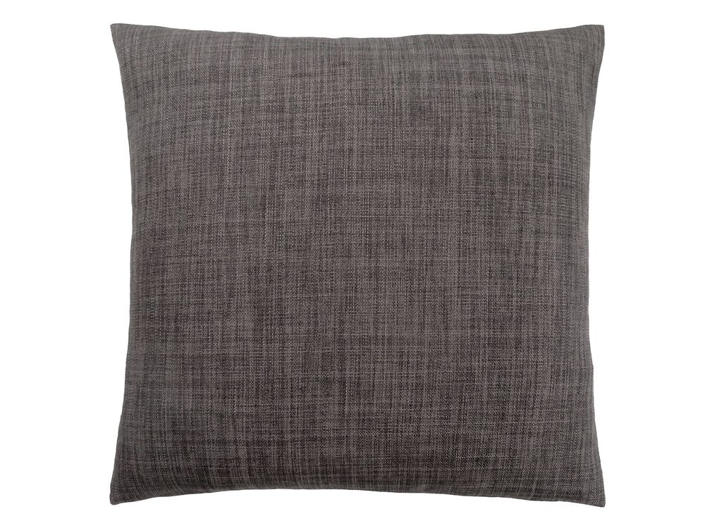 Monarch Specialties 18-inch x 18-inch Linen Patterned Dark Grey Pillow