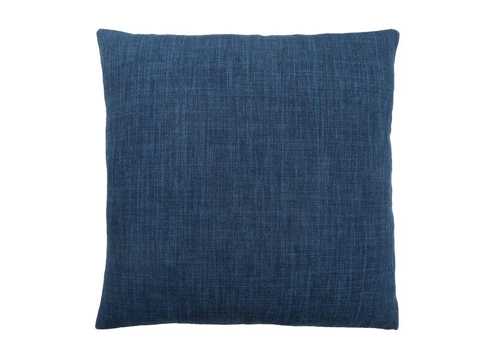 Monarch Specialties 18-inch x 18-inch Linen Patterned Dark Blue Pillow