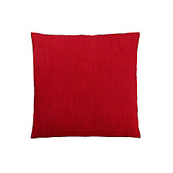 Monarch Specialties 18-inch x 18-inch Linen Patterned Red Pillow
