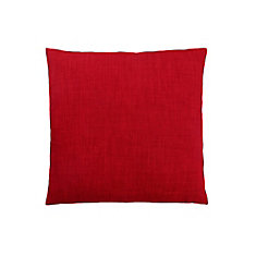 18-inch x 18-inch Linen Patterned Red Pillow