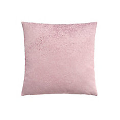 18-inch x 18-inch Light Pink Feathered Velvet Pillow