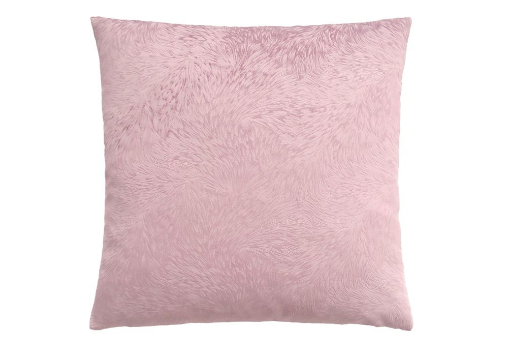 Monarch Specialties 18-inch x 18-inch Light Pink Feathered Velvet Pillow