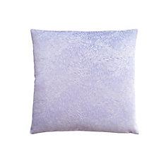 18-inch x 18-inch Light Purple Feathered Velvet Pillow