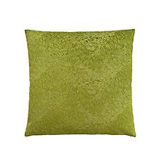 Coussin - 18 po X 18 po Velour De Plume Vert Lime (1-Pc)