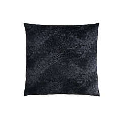 18-inch x 18-inch Black Feathered Velvet Pillow