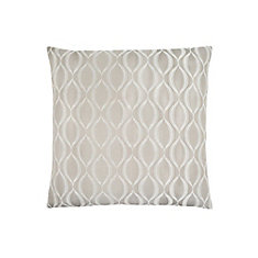 18-inch x 18-inch Taupe Wave Pattern Pillow