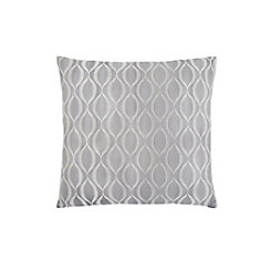 18-inch x 18-inch Grey Wave Pattern Pillow