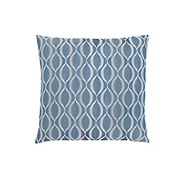 Monarch Specialties 18-inch x 18-inch Blue Wave Pattern Pillow