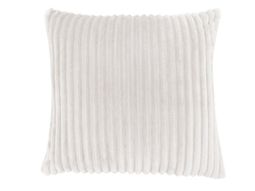 Monarch Specialties 18-inch x 18-inch Ivory Ultra Soft Ribbed Style Pillow