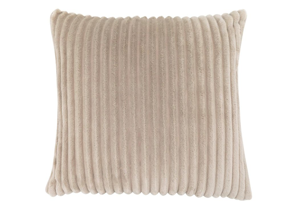 Monarch Specialties 18-inch x 18-inch Beige Ultra Soft Ribbed Style Pillow