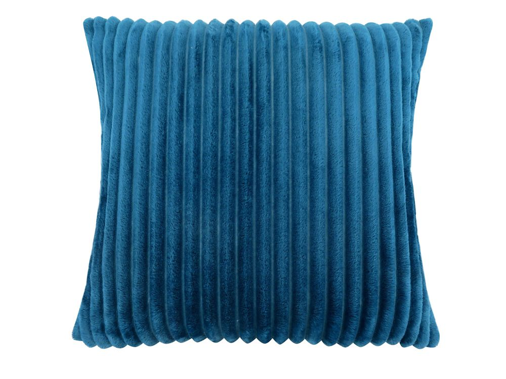 Monarch Specialties 18-inch x 18-inch Blue Ultra Soft Ribbed Style Pillow