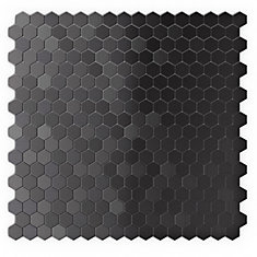 Hexagonia SB 11,46-inch x 11.89-inch Metal Self-Adhesive Wall Mosaic Tile