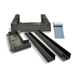 VELUX Solin toiture relief élevé - puits de lumière cadre intégré - cadre extérieur: 23 1/4 po large