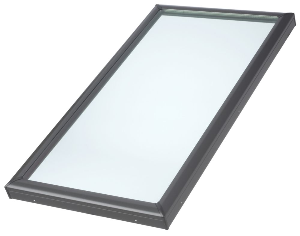 VELUX ft.FCM- Fixed Curb Mount Skylight - RSO 46 1/2 inch x 46 1/2 inch- Triple Pane