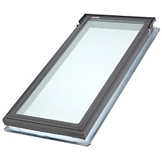 White - Manual Room Darkening Blind for Fixed Deck Mount  FS C06 - double pleated