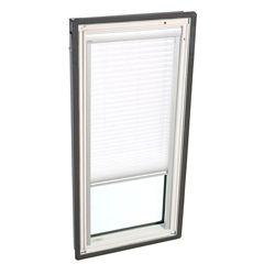 VELUX Store filtre-lumière manuel - Blanc pour puits de lumière avec cadre intégré FS C06 - plissé simple
