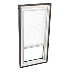 White- Manual Light Filtering blind for Fixed Deck Mount - FS M06 - single pleated
