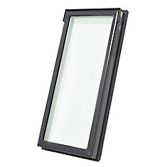 FS- Fixed Deck Mount Skylight size A06 - outside frame 15 1/4 inch x 46 1/4 inch- Tempered LoE3 glass