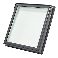 FS- Fixed Deck Mount Skylight size C01 - outside frame 21 1/2 inch x 27 3/8 inch- Tempered LoE3 glass