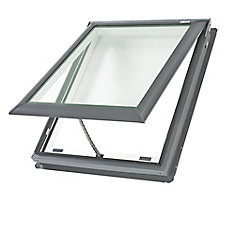 VS - Manual Venting Deck Mount Skylight size C01 - outside frame 21 1/2 inch x 27 3/8 inch- Laminated LoE3