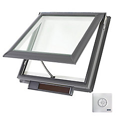 VSS - Solar Powered Venting Deck Mount Skylight size M04 - outside frame 30 9/16 inch x 38 3/8 inch- Laminated LoE3