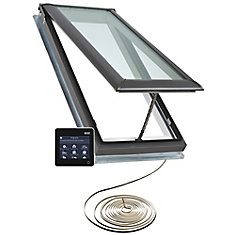 VSS - Solar Powered Venting Deck Mount Skylight size M08 - outside frame 30 9/16 inch x 54 15/16 inch- Energy Plus Laminated LoE3