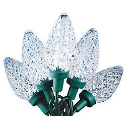 Home Accents Holiday Guirlande lumineuse de Noël à 25 ampoules à DEL très brillantes C9, blanc