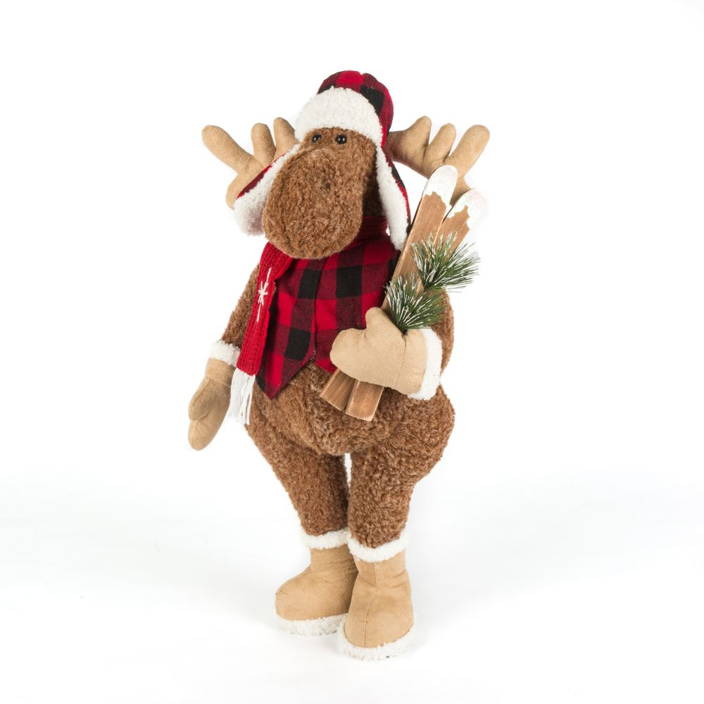 home accents holiday 24 inch plush moose christmas decoration