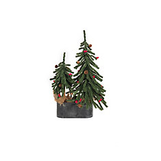 Tabletop Artificial Christmas Tree with Burlap and Stand
