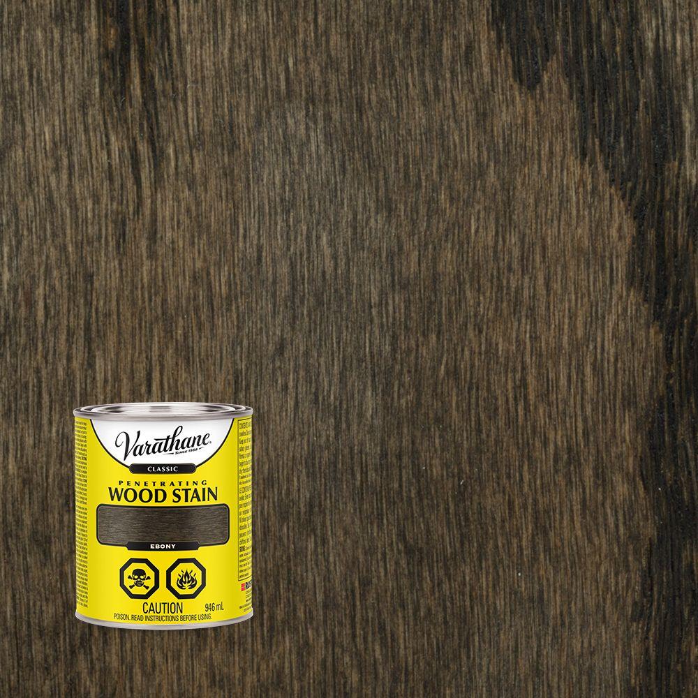 Varathane Classic Penetrating Wood Stain Ebony 946ml